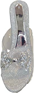 ANMOL Style- Women's Fancy transparent wedges, (colour: Silver)
