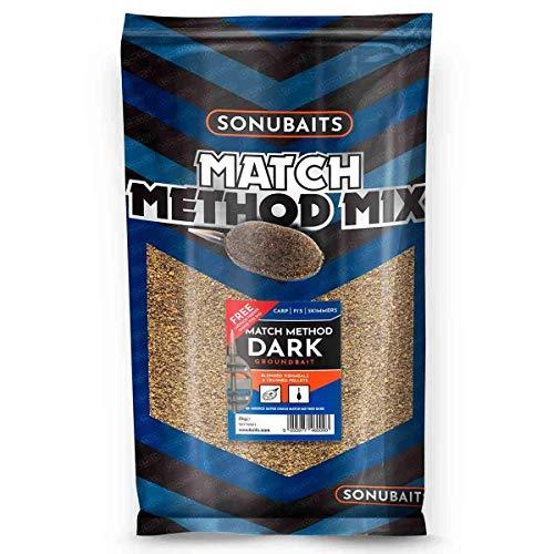 Sonubaits 2kg Match Method Mix Dark Futter für Karpfen Brassen Güstern