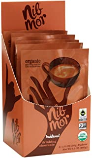 Nib Mor Hot Chocolate Packets or Cold Drinking Chocolate Mix - Organic, Vegan, Gluten Free Hot Cocoa - Traditional, 1.05 Ounce (Pack of 6)