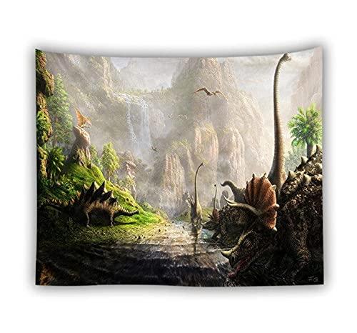 Tapiz de para Colgar Dinosaurio Parque Jurásico 150X100cm 3 Colcha, Mantel, Alfombra de Picnic, Manta/Toalla de Playa Grande - Versátil