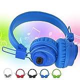 Auriculares Bluetooth sobre Oreja, Auriculares inalámbricos Control de Aplicaciones TF TARD FM Radio Auriculares para teléfonos celulares, TV, PC y Viajes (Azul: Rojo) YXF99 (Color : Blue)