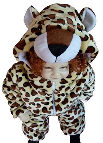 Ikumaal F95 bebé Guepardo Trajes Traje Trajes para bebés guepardos Carnaval 9-12 Meses