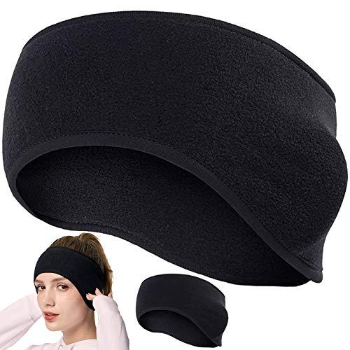 KARAA 2 Stück Ohrenwärmer Stirnbander Kopfband Winter Ohrenschutz Winddicht Schweißband unter Helm Sportband für Herren Damen Kinder Mädchen Fahrradhelm mit Pferdeschwanz-Öffnung