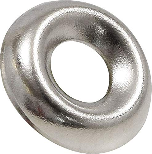 Hillman Group 310170#8 (100-Pack) Nickel-Plated Countersunk Finish Washers, 8, Silver, 100 Pieces