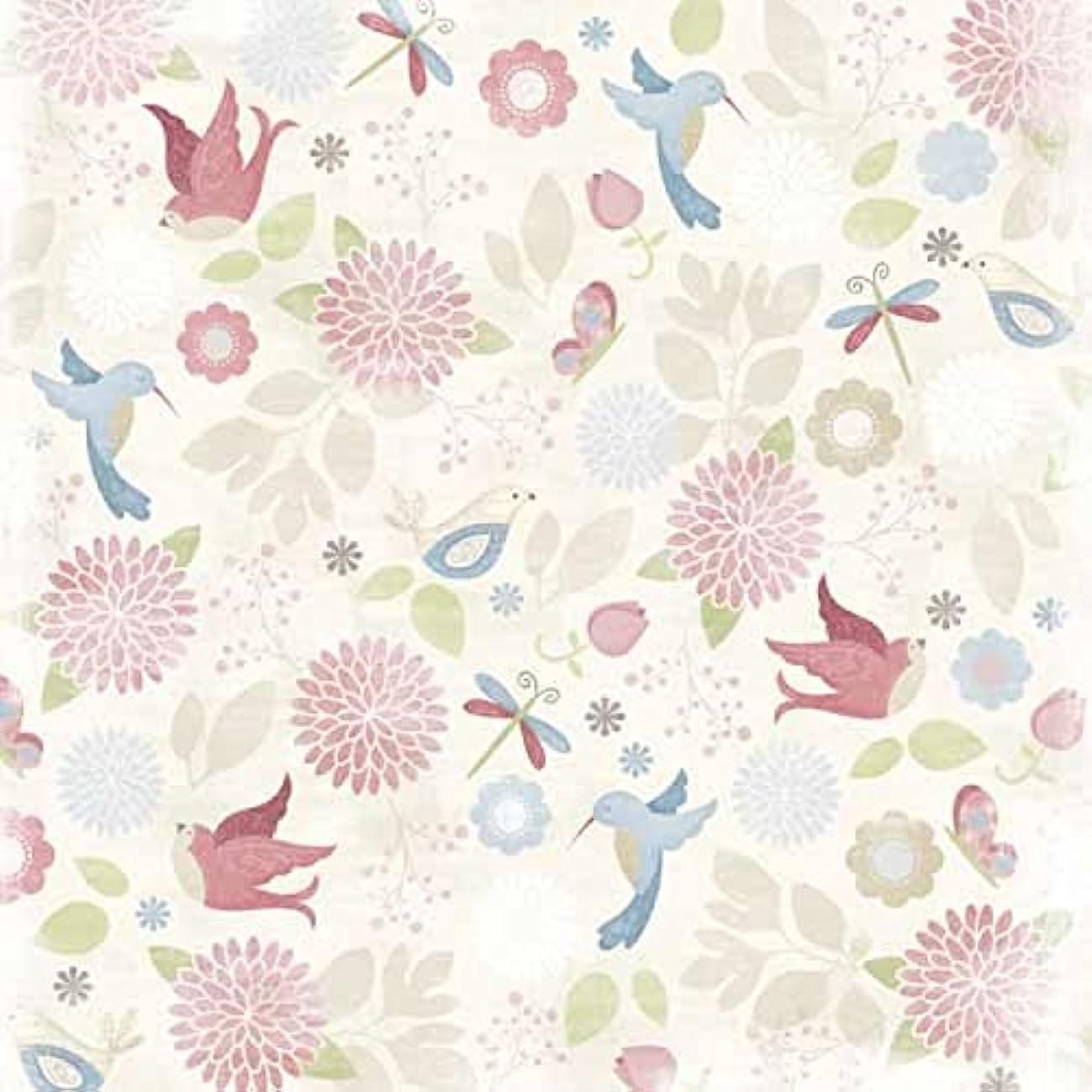 Karen Foster 64244 25 Sheets Birds and Blooms Scrapbooking Supplies