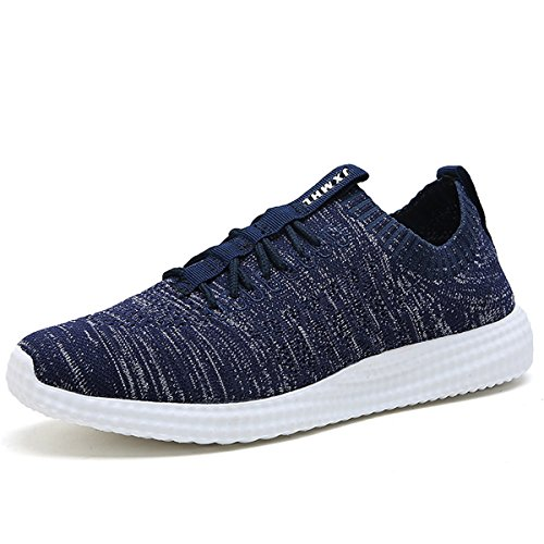 ZanYeing Unisex Turnschuhe/Fitnessschuhe Atmungsaktiv Knit Schnüren, 42EU=Fit Fußlänge 268-273mm=322g - Blau