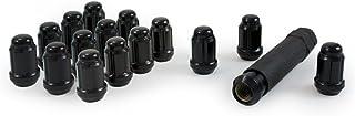 Gorilla Automotive 21132BC Small Diameter Acorn Black 4 Lug Kit (12mm x 1.50 Thread Size)