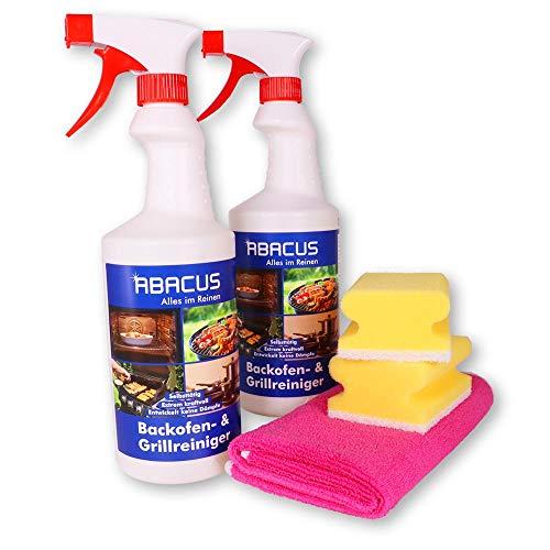 ABACUS 2x 750 ml Backofen- und Grillreiniger mit Tuch & Schwämmen (7397) Destine