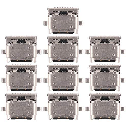 DINGXUEMEI Xuemei de Piezas de Repuesto de teléfono Micro USB Muelle de Carga del zócalo del Puerto 10 PCS de Carga del Puerto de Conector for Huawei Nova 2 Plus