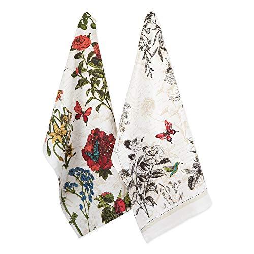 DII Print Kitchen Textiles, Dishtowel S/2, Botanical Blooms 2 Piece