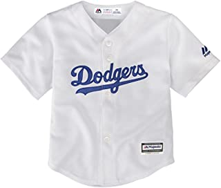 Majestic Los Angeles Dodgers MLB Preschool Kids Cool Base Home Replica Jersey - White