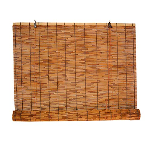 wall hanging Carbonized Reed Curtain Partition Wanddekoration Hebevorhang Outdoor Sun Shade Decke Strohmatte 120 × 300CM