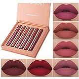 6 PCS Matte Liquid Lipstick Makeup Set, Matte Velvety Long-Lasting Wear Non-Stick Cup Not Fade Waterproof Lip Gloss (Set A)