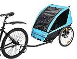 Fiximaster 2020 Luxury BT-521 Porte-bébé en aluminium pour 2 enfants Bleu/noir