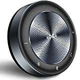 Bluetooth Speakerphone MAXHUB BM21E Conference Speaker Noise Reduction 6 Microphones 4 Meters 360° Voice Pickup Portable USB Speakerphone 8-Hour Call Time for Office