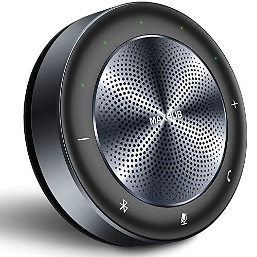 Maxhub Altavoz Micrófono Videoconferencia Bluetooth con USB, Audio Dúplex Completo Speaker Bluetooth de Reducción de Ruido, Sonido Envolvente de 360 °,Compatible con PC, Smartphones y Portatíles