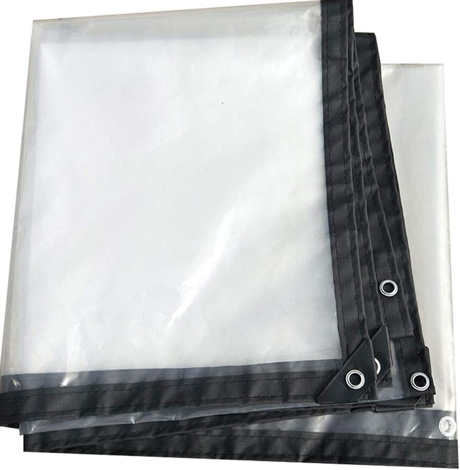 LIANGLIANG Tarpaulin Waterproof Heavy Duty Sheet Outdoor Rainproof Shading Tear Resistance with Metal Hole Eye Plastic PE, 24 Sizes (color   Clear, Size   2x4m)
