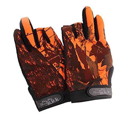 ChengBeautiful Guantes De Pesca Guantes de Pesca Multicolor Dew Three Finger (Color : Orange B, Size : Medium)