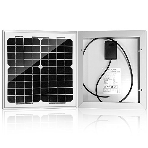 ACOPOWER 10 watt 10W Monocrystalline Photovoltaic Pv Solar Panel Module for 12v Battery Charging
