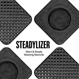 Anti Vibration Pads for Washing Machine - 4pc - Prevent Your Washer and Dryer From Walking and Reduce Noise - High Friction Hard Wearing Square Rubber Foot Pads - By Steadylizer