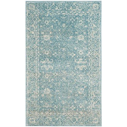 """Safavieh Evoke Collection EVK270D Vintage Light Blue and Ivory Area Rug (2'2"""" x 4')"""