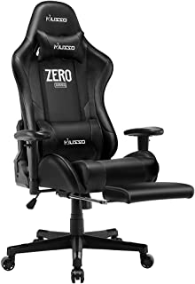Musso Massgae Gaming Chair with Footrest, Adjustable Esports Gamer Chair, Adults Racing Video Game Chair, Large Size PU Le...