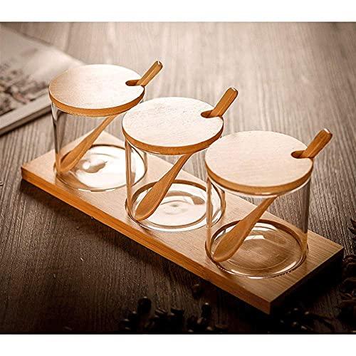Spice Storage 3 stks Glas Verzegelde Kruiden Pot Kruiden potten Huishoudelijke kruidendozen Verzegelde Creature Pot…