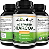 Cleanse and Detox Activated Charcoal Capsules - Pure Activated Carbon Detox Capsules for Bloating Relief - Active Charcoal Capsules for Gas Relief Gut Health and Stomach Relief