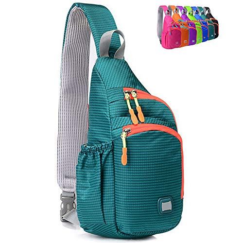 Peicees Small Sling Backpack Waterproof Unisex Shoulder Bag Chest Crossbody