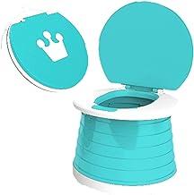 Yoohh Draagbare potjestoel, voor kinderen, opvouwbare training, toiletstoel, reispotje, voor binnen en buiten, met stabiel...