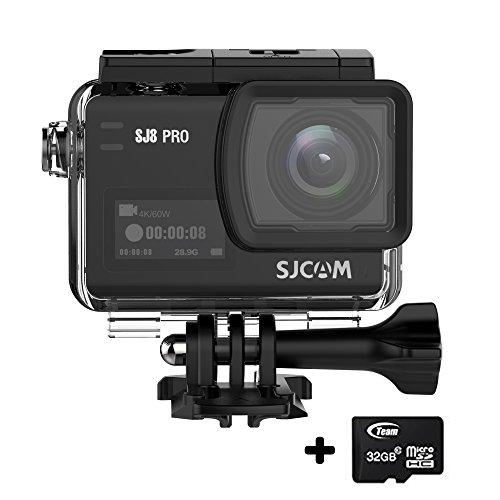 SJCAM SJ8 Pro 4K Cámara de acción con Pantalla táctil WiFi Control Remoto 170 ° Cámara de Gran Angular con cámara de DV y 1200mAh