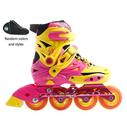 XZ15 Kinder Inline Schaatsen, Mannelijke En Vrouwelijke Beginners Quad Schaatsen Verstelbare Student Jeugd Duurzame Rolschaatsen