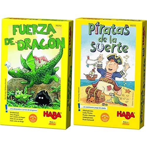 HABA - Fuerza de Dragón - ESP (302253) + - Piratas de la Suerte - ESP (302252)