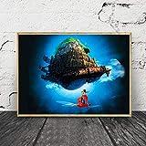 Decoración del hogar Modular Castillo Cielo Castillo Cartel Pintura HD impresión Pared Arte Imagen Lienzo Sala de Estar sin Marco Pintura 50x75 cm