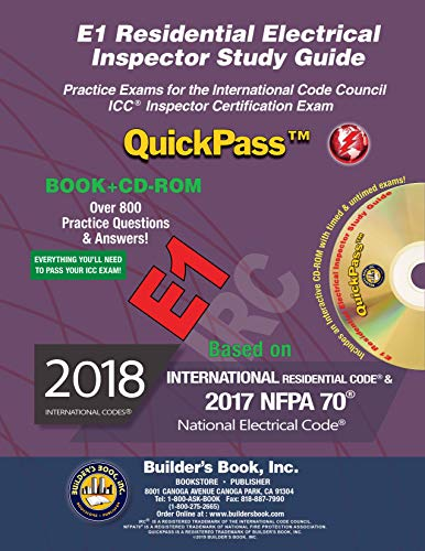 E1 Residential Electrical Inspector QuickPass Study Guide Based On 2018 IRC & NFPA 70