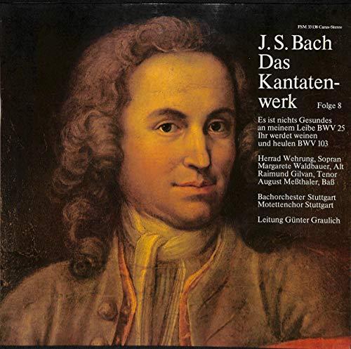 Bach: Das Kantatenwerk Folge 8; Es ist nichts Gesundes an meinem Leibe BWV 25; Ihr werdet weinen und heulen BWV 103 - FSM 33138 - Vinyl LP