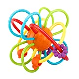 Zooawa Baby Teether, Soft Rattle and Sensory Ball Teething Toy for Pain Relief, BPA-Free Teether...