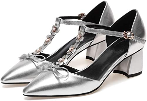 LQNVXIE LQNVXIE LQNVXIE Sandalen Spitzen Bogen mit der Schuhe MIT Dicken Blaume perlen aus  Online-Verkauf