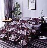 RRC Microfiber Glace Cotton Premium King Duvet/Quilt/Razai/Comforter Cover 90' x 100' (Grey with Spider net Print)