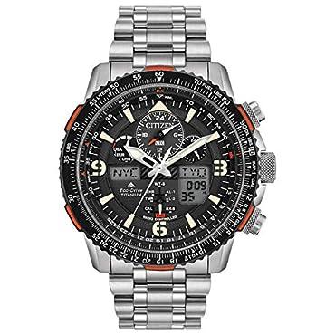 Men's Citizen Eco-Drive Promaster Skyhawk A-T Chronograph Titanium Watch JY8108-53E
