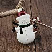 Crystal Christmas Xmas Tree Santa Deer Snowman Brooch Pin Wedding Woman Jewelry   Choose Style - Snowman