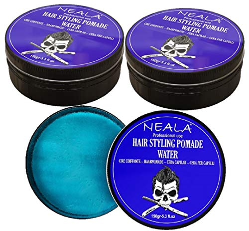 Pack 3 Cera para pelo de hombre - Neala Water (efecto mojado) - Pack 3 latas x 150ml