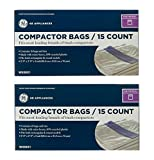 GE Universal Trash Compactor Bags - 2 Pack (15 Bags Per Pack),WX60X1