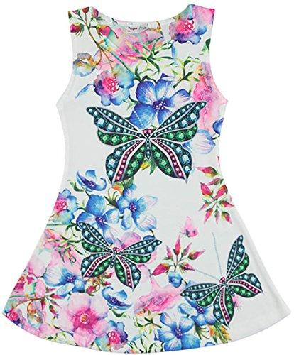 Topo Mädchen Kleid Blumen und Schmetterlinge (134)