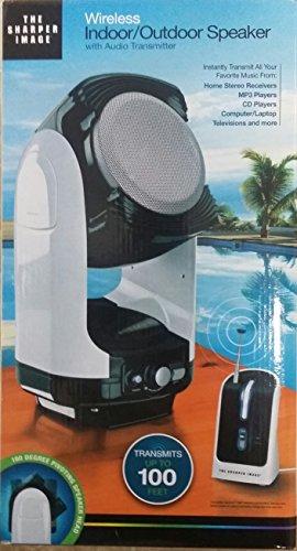 The Sharper Image Wireless Indoor/Outdoor Speaker with Audio Transmitter