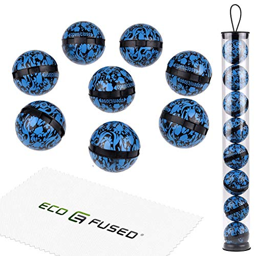 ECO-FUSED Deodorizing Balls for Sneakers, Lockers, Gym Bags - 8 Pack - Neutralizes Sweat Odor - Also Great for Homes, Offices and Cars - Easy Twist Lock Open Mechanism - Ocean Fresh