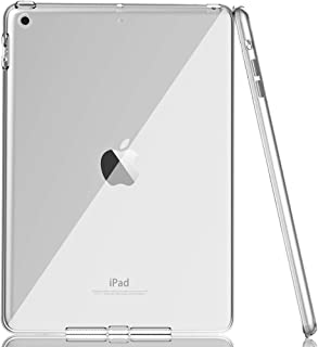BAISRKE Case for New iPad 2017 9.7 - Crysta Clear Premium Soft Skin Flexible Bumper Transparent TPU Rubber Back Cover Protector for Apple New iPad 9.7 Inch 2017 Release Tablet