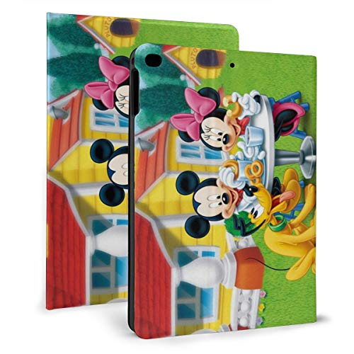 Cartoon Mickey Minnie Mouse PAD 9.7 Case For 2018 2017 / PAD Air 1/2 Cover Auto Wake/Sleep For Apple PAD 9.7 Inch 6th / 5th Pu Leather Shell Stand Smart Slim.