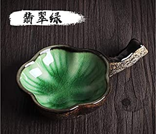 Megrez Multifunctional Inkwell Dish Porcelain Handmade Ink Well Inkstone with Brush Holder for Chinese Japanese Calligraphy Painting Practice, Jade Green