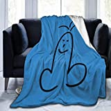 Funny Penis Ultra Soft Flannel Fleece Blanket All Season Living Room Bedroom Warm Throw Blanket 60'x50' Bed Blankets